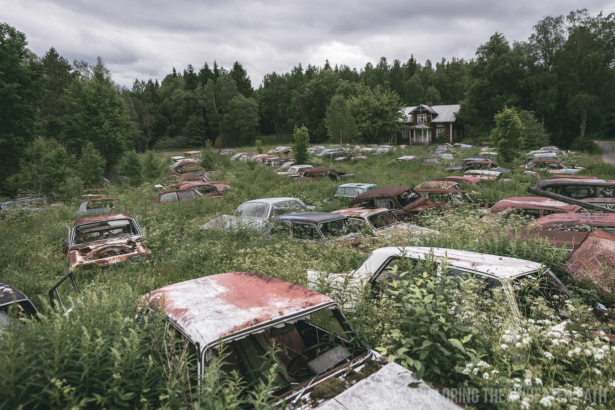 Båstnäs car graveyard Sweden abandoned urbex urban exploring
