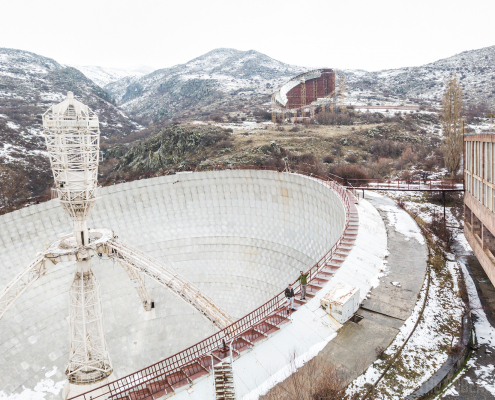 Radio optical telescope Paris Herouni urbex urban exploring armenia