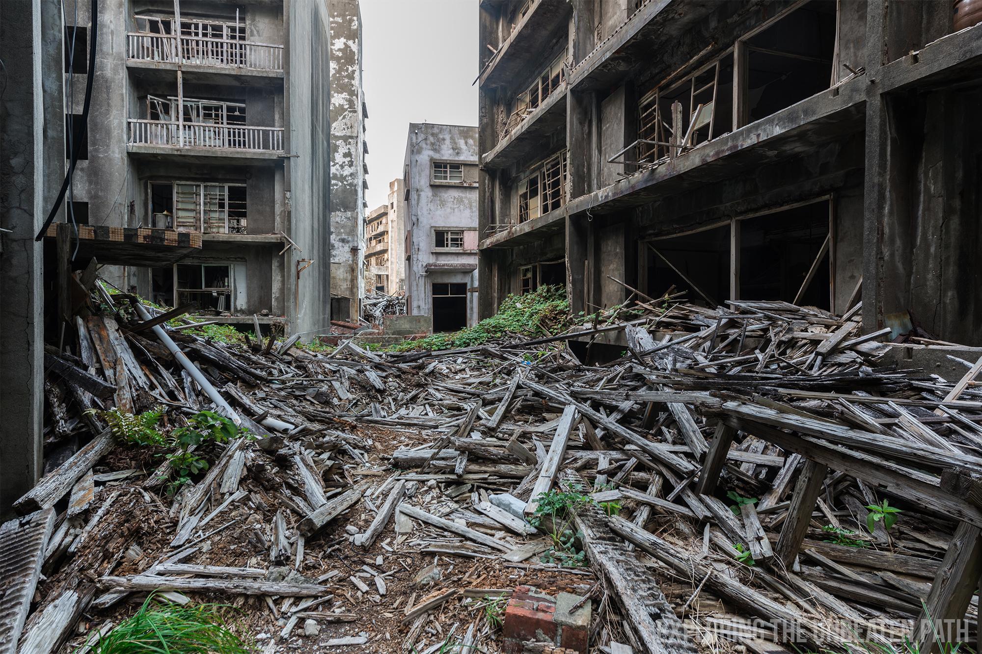 Gunkajima battleship island Japan abandoned urbex urban exploring